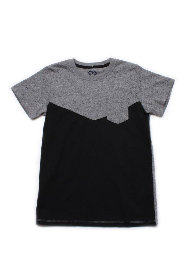 Two-Tone Chevron T-Shirt with Pocket GREY (Boy's T-Shirt)