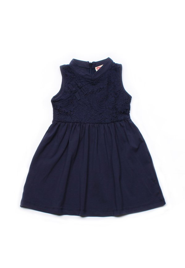 Oriental Cheongsam Inspired Lace Dress NAVY (Girl's Dress)