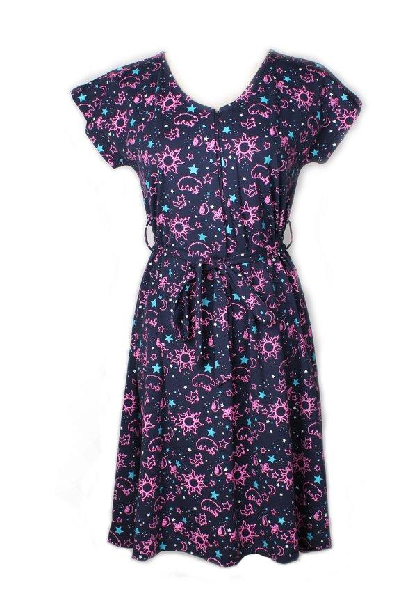 Constellations Print Nursing Flare Dress NAVY (Ladies' Dress)