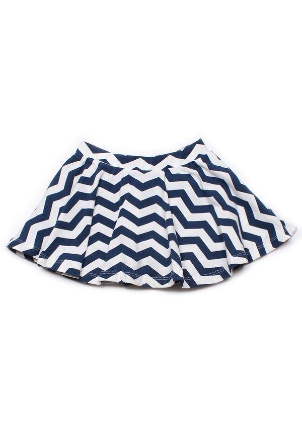 ZigZag Print Skirt NAVY (Girl's Bottom)