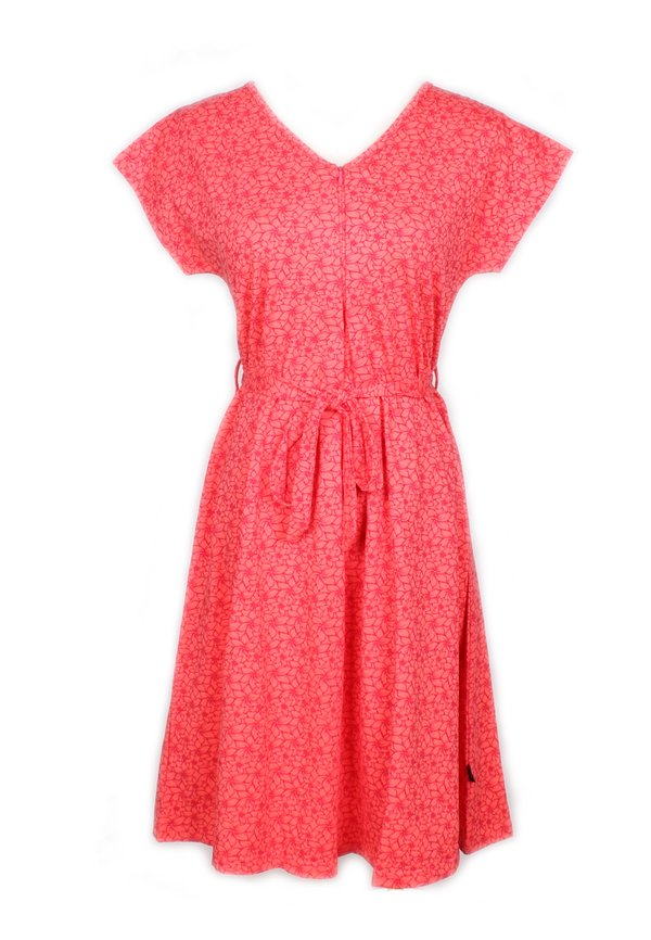 Floral Design Nursing Flare Dress PINK (Ladies' Dress)