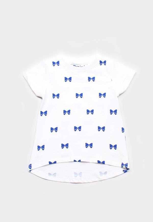 Bow Ribbons Print T-Shirt WHITE (Girl's Top)