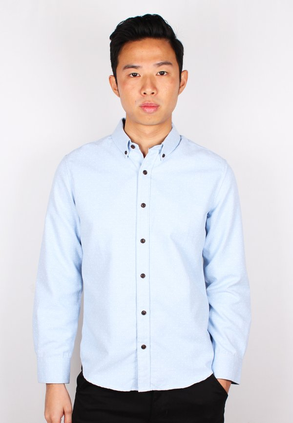Polka Dot Long Sleeve Shirt BLUE (Men's Shirt)