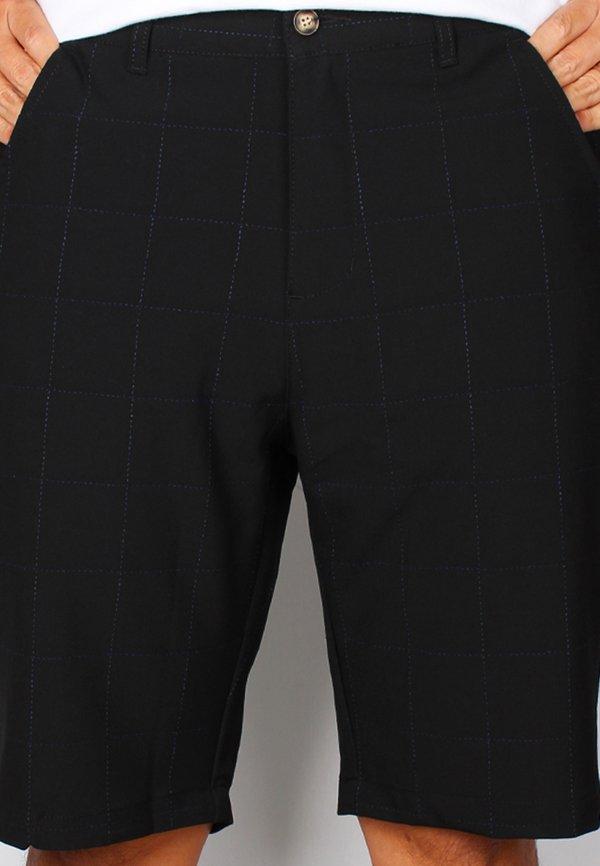 Checkered Stitch Bermudas BLACK (Men's Bottom)