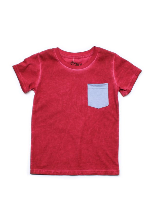 Faded Look Pocket T-Shirt RED (Boy's T-Shirt)