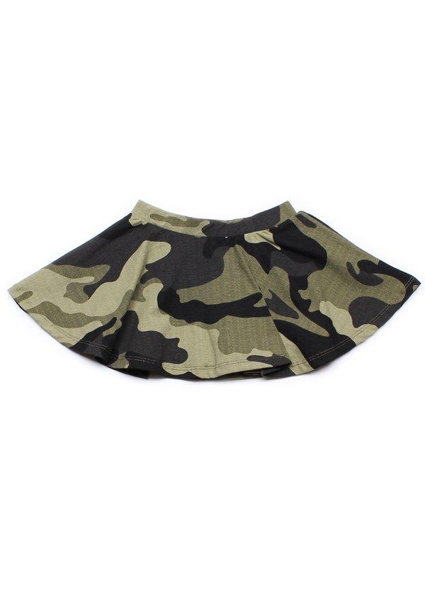 Camo Print Skirt GREEN (Girl's Bottom)
