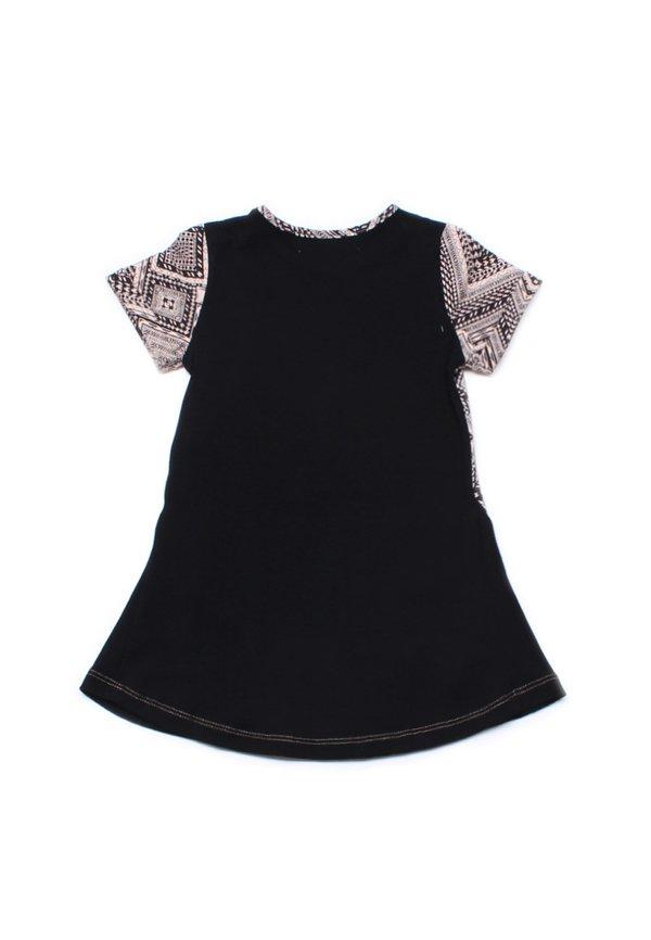 Aztec Design Print Shift Dress BLACK (Girl's Dress)