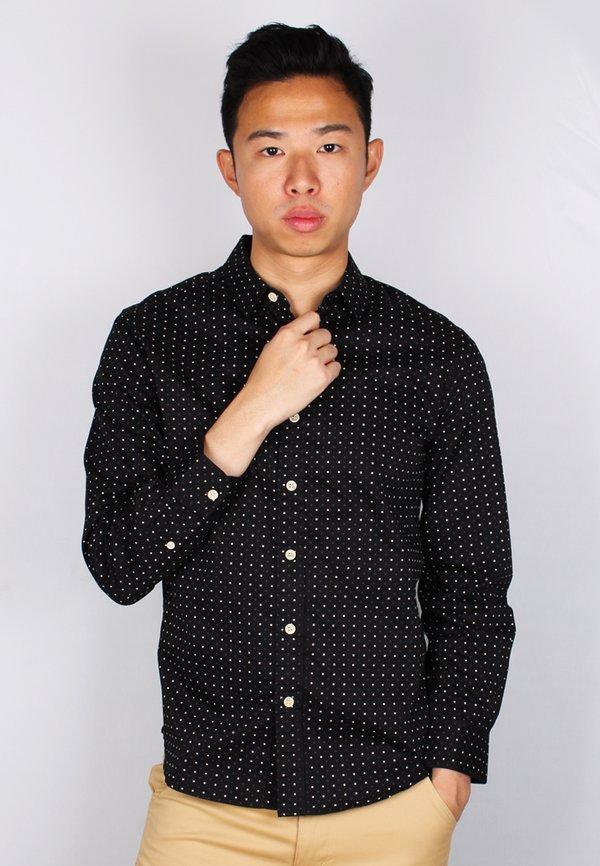 Digital Pixel Long Sleeve Shirt BLACK (Men's Shirt)