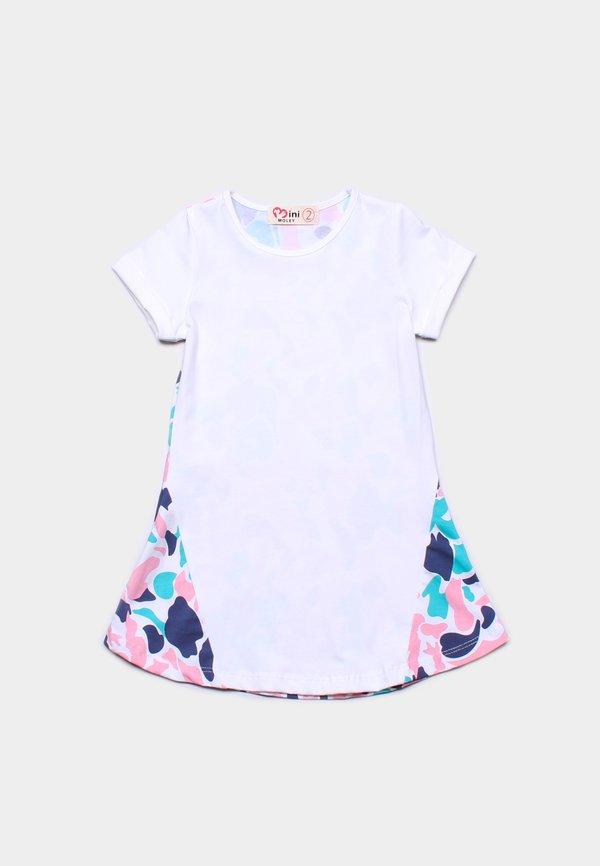 Design Print Shift Dress WHITE (Girl's Dress)