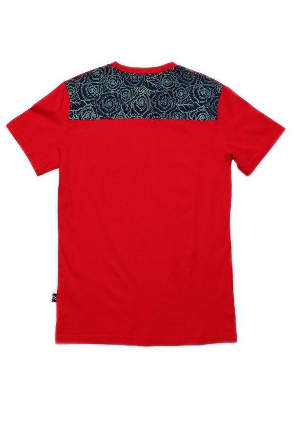 Floral Print Pocket T-Shirt RED (Men's T-Shirt)