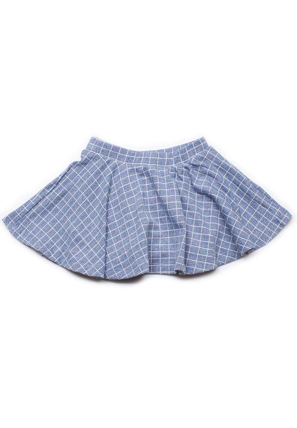 Checkered Skirt BLUE (Girl's Bottom)