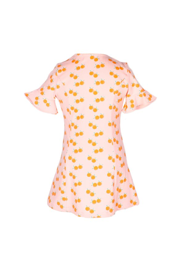 Mandarin Orange Print Button Down Dress PINK (Girl's Dress)