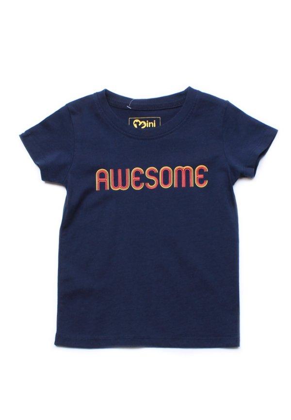 AWESOME T-Shirt NAVY (Boy's T-Shirt)