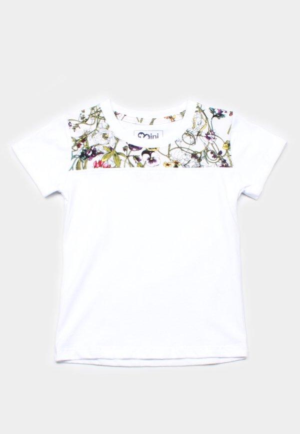 Floral Print Panel T-Shirt WHITE (Boy's T-Shirt)