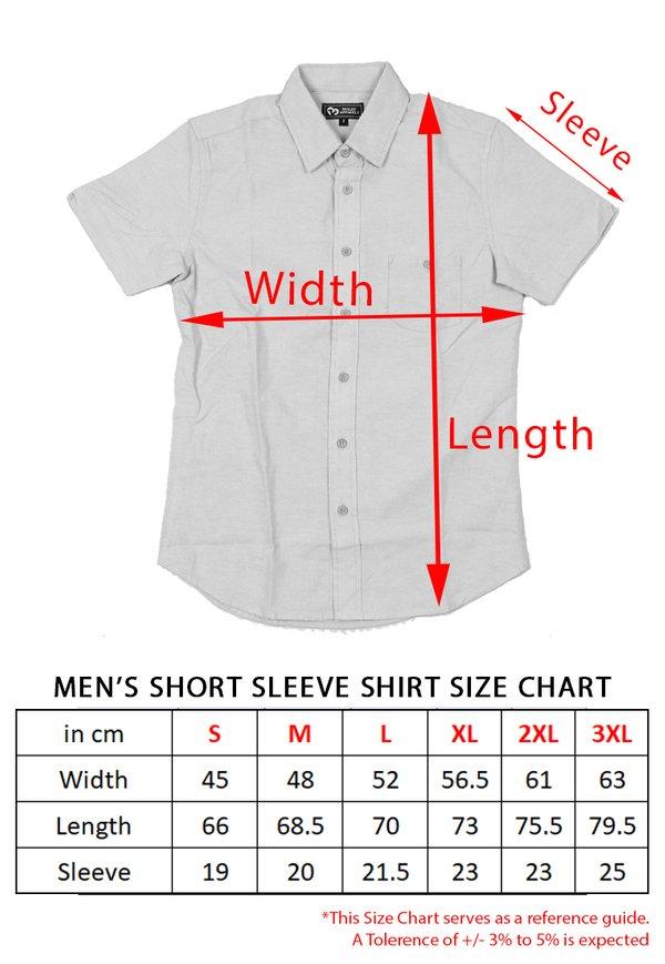 Brushed Cotton Twin Pocket Short Sleeve Shirt RED (Men's Shirt)