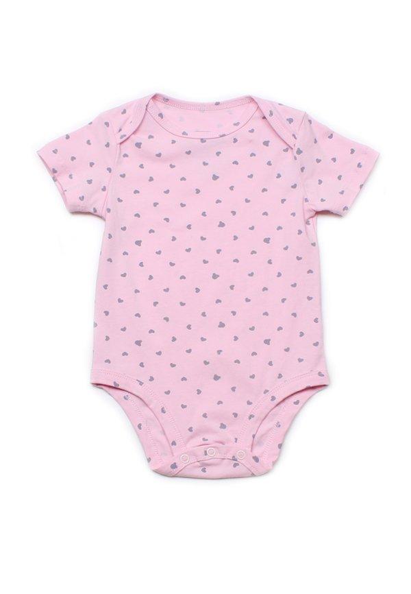 Hearts Print Romper PINK (Baby Romper)