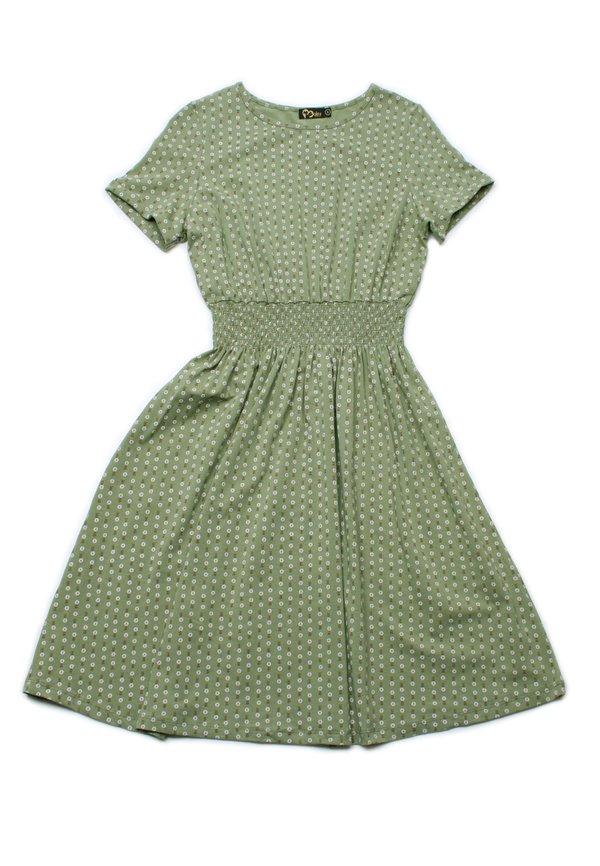 Design Print Skater Dress GREEN (Ladies' Dress)