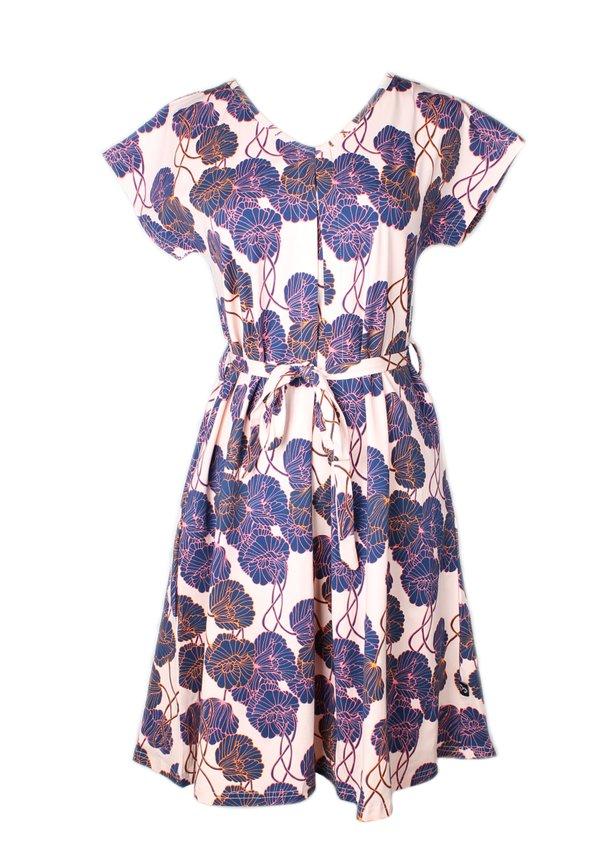 Neon Peony Print Flare Dress PINK (Ladies' Dress)