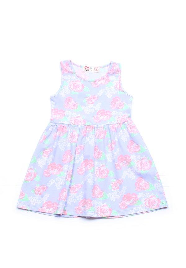 Floral Print Dress PURPLE (Girl's Dress)