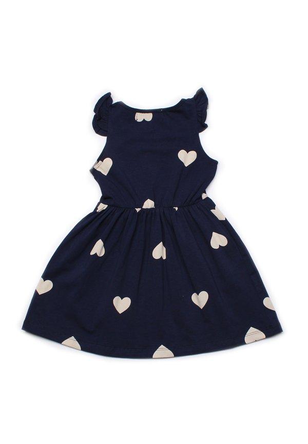 Hearts Print Dress NAVY (Girl's Dress)