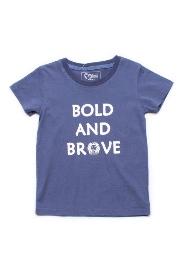BOLD AND BRAVE T-Shirt BLUE (Boy's T-Shirt)