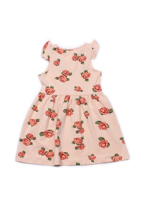 Rose Print Dress CREAM (Girl's Dress)