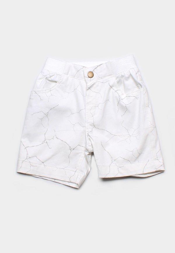 Wall Crack Print Shorts WHITE (Boy's Shorts)