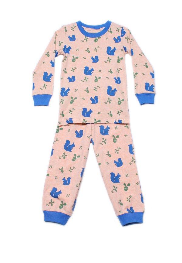 Squirrel Print Pyjamas Set ORANGE (Kids' Pyjamas)
