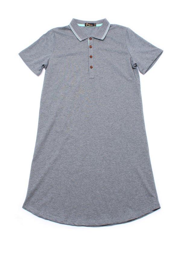 Twin Tipped Polo Shift Dress GREY (Ladies' Dress)