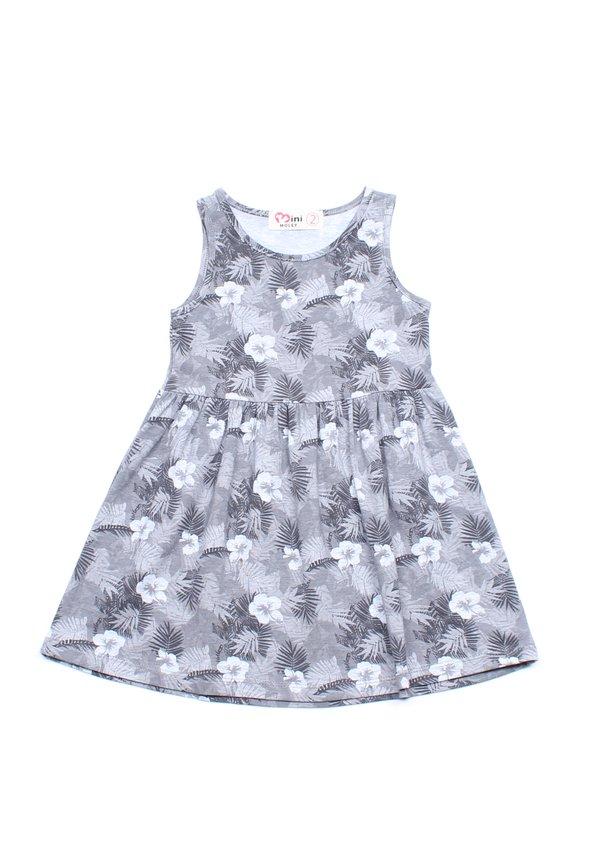 Floral Print Dress GREY (Girl's Dress)