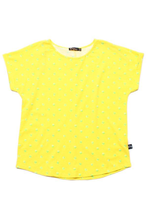 Water Coloured Polka Dot Print Blouse YELLOW (Ladies' Top)