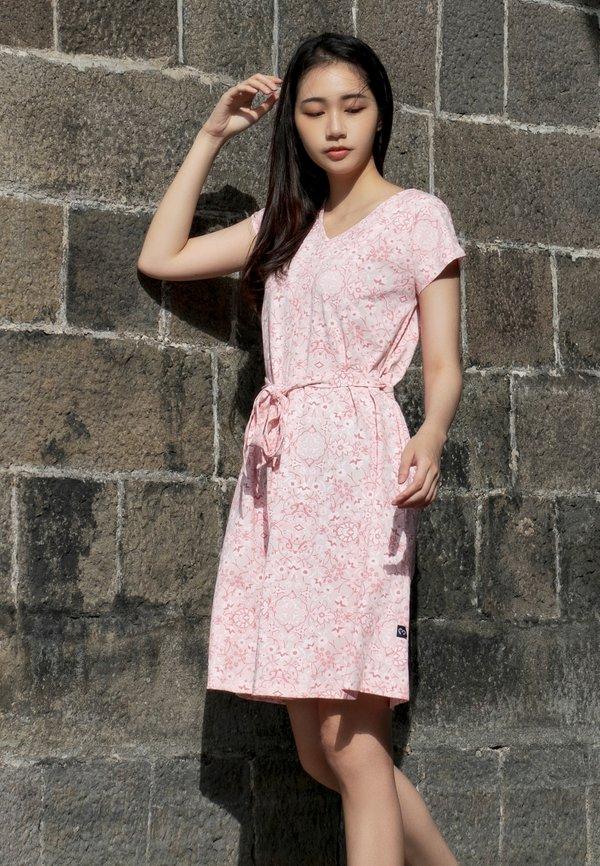 Floral Print Flare Dress PINK (Ladies' Dress)