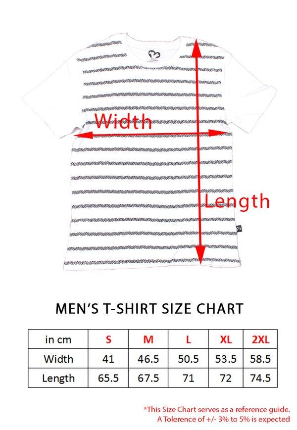 Caution Tape Print T-Shirt BLUE (Men's T-Shirt)