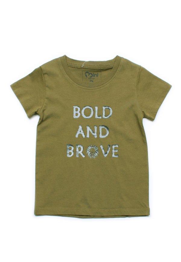 BOLD AND BRAVE T-Shirt GREEN (Boy's T-Shirt)