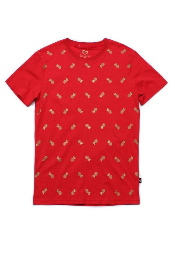 Pineapple Print T-Shirt RED (Men's T-Shirt)
