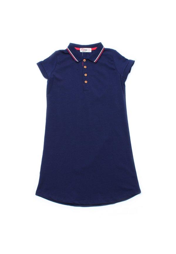 Twin Tipped Polo Shift Dress NAVY (Girl's Dress)
