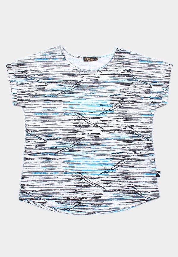 Design Print Blouse WHITE (Ladies' Top)