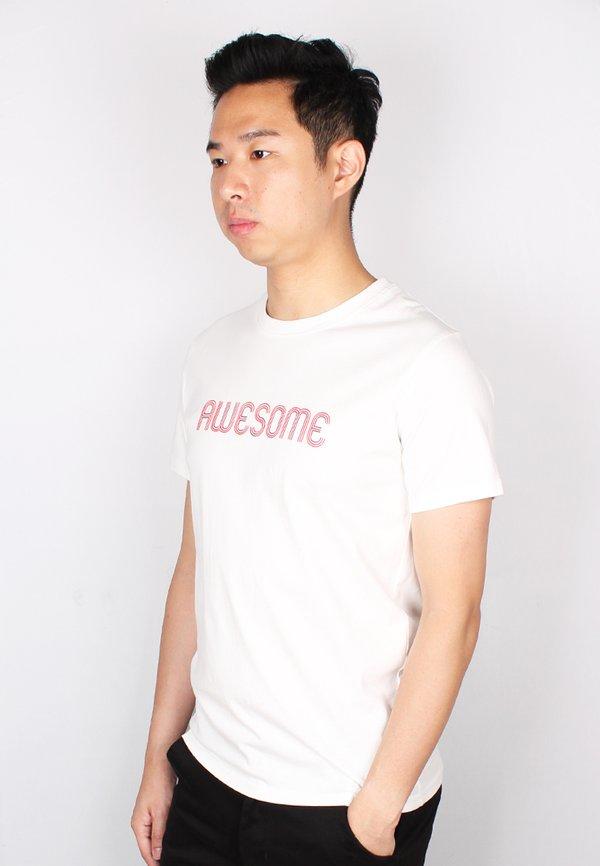AWESOME T-Shirt WHITE (Men's T-Shirt)