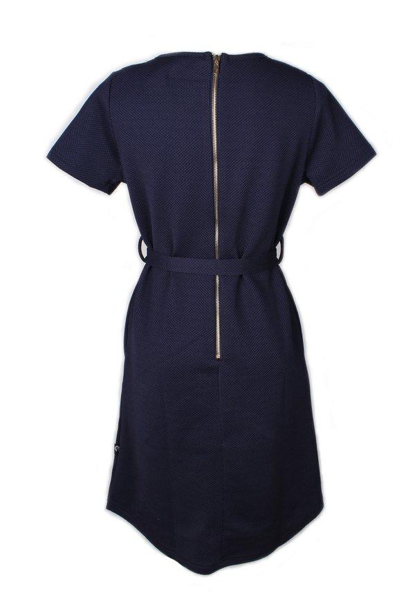 Faux Pearl Neckline Flare Dress PINK (Ladies' Dress)
