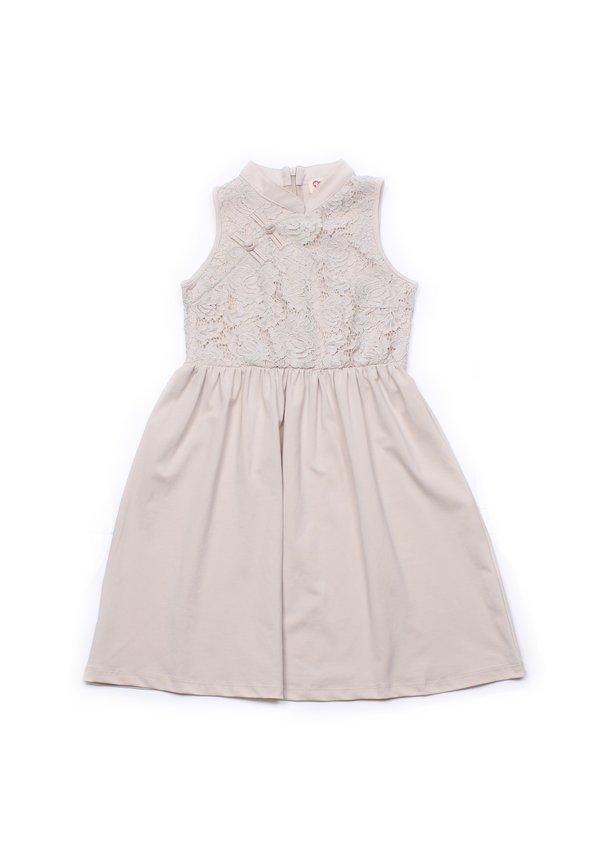 Oriental Cheongsam Inspired Lace Dress CREAM (Girl's Dress)