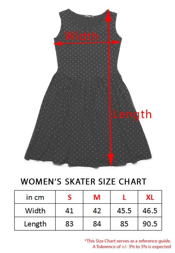 Floral Print Skater Dress YELLOW (Ladies' Dress)