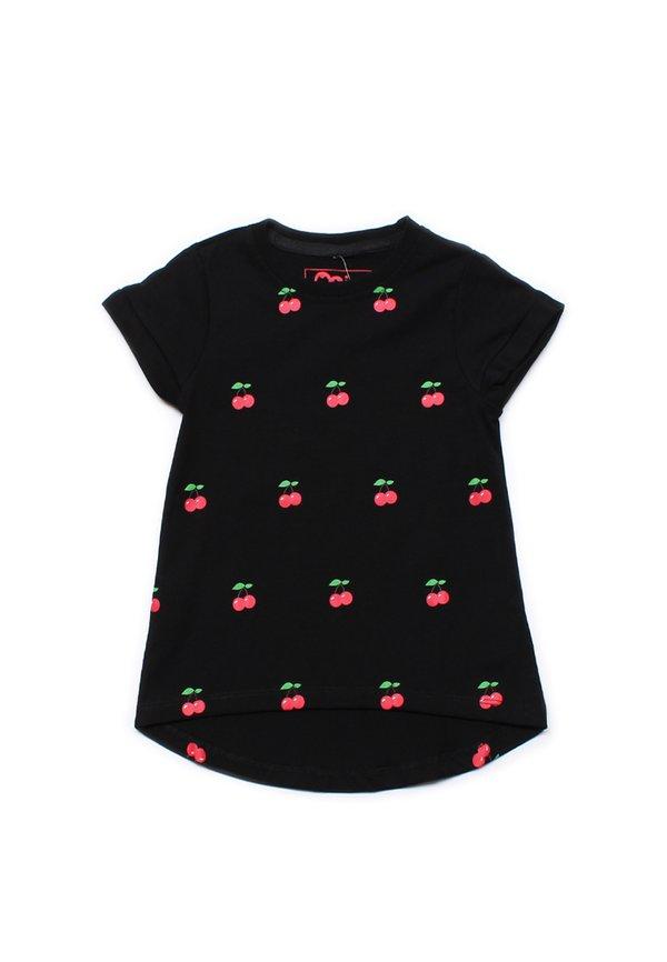 Cherry Print T-Shirt BLACK (Girl's Top)