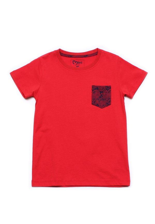 Tribal Print Pocket T-Shirt RED (Boy's T-Shirt)
