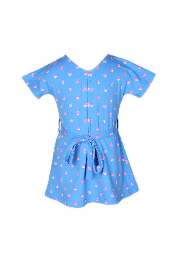 Water Coloured Polka Dot Print Flare Dress BLUE (Girl's Dress)