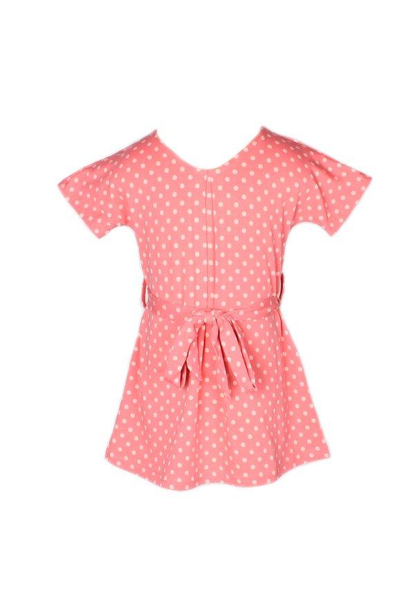 Polka Dot Print Flare Dress PINK (Girl's Dress)