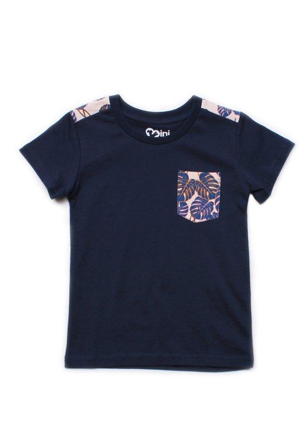 Neon Botanical Print T-Shirt NAVY (Boy's T-Shirt)