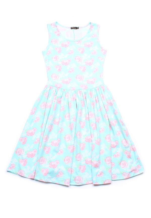 Floral Print Skater Dress GREEN (Ladies' Dress)