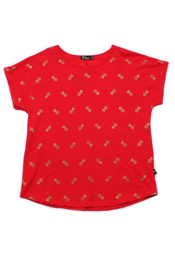 Pineapple Print Blouse RED (Ladies' Top)