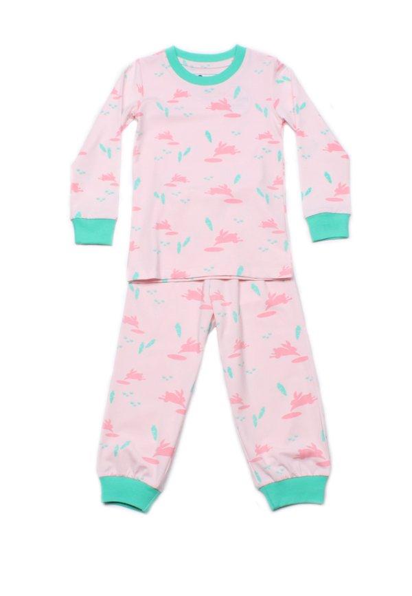 Bunny Print Pyjamas Set PINK  (Kids' Pyjamas)