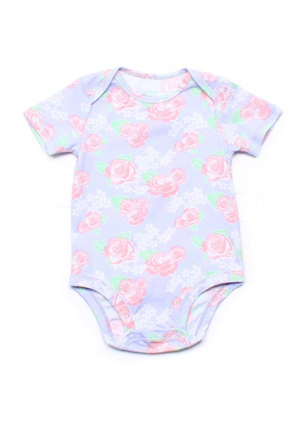 Floral Print Romper PURPLE (Baby Romper)